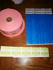 Ticket Rolls For Raffles and wrist bands