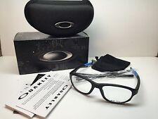 New In Box Oakley Crosslink Satin Black Frames Rx Eyeglasses OX8048-0154 W/Case