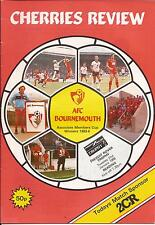Football Programme - Bournemouth v Reading - Freight Rover Trophy - 1986