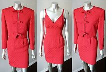 Valentino Miss V Italy Mini Red Brocade Blazer Bow Halter Cocktail Dress Suit Xs