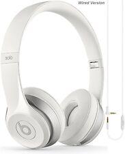 Apple Beats Solo 2 Blanc Filaire Casque avec microphone-Grade A remis à neuf