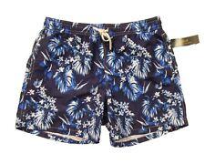 """Polo Ralph Lauren Men's Blue Floral Traveler 5 3/4"""" Swim Trunks"""