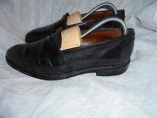 Brooks Brothers Hommes Noir Cuir à Enfiler Chaussures Taille UK 9.5 EU 43.5 US 10 très bon état