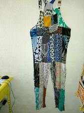 Gringo fair trade. Long Multi Patterned And Coloured Patchwork Long Dungarees