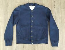 TAYLOR STITCH Bomber Jacket 42 L Brushed Indigo Fleece Lining Made in California