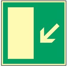 Schild Fluchtwegschild Rettungsweg links Treppe abwärts HIGHLIGHT Alu 20 x 20cm