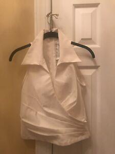 Lilie Rubin White Sleeveless Blouse / Size 6 / New With Taga