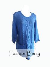 New! John Paul Richard Women Blue Sapphire Sweater Size L Orig $49.00