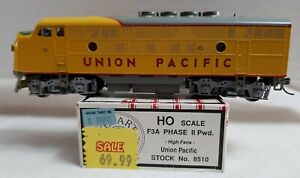 STEWART HOBBIES 8510 HO F3-A PHASE II UNION PACIFIC w/ HIGH FANS - POWERED, NICE