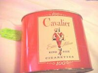 Vintage Cavalier 100 King Size Cigarette Metal Tobacco Tin collectible