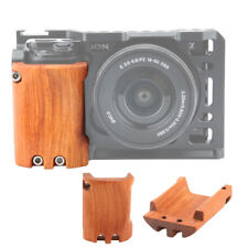NICEYRIG Wooden Handle Handgrip for Sony A6000 A6300 A6500 ILCE-6500 Camera cage