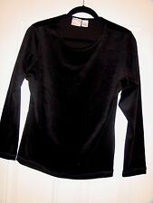 PARTNERS Black Long Sleeve Velvet Shirt Size M