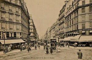 75-CPA ANIMEE DEBUT 1900-PARIS PERSPECTIVE DE LA RUE DE RENNES