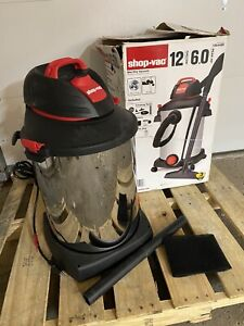 Stainless Steel 12 Gallon Shop Vac 6.0 Peak HP Wet/Dry *PARTS ONLY*