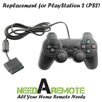 Black Game Controller Twin Shock Joypad Pad for Sony PS2 Playstation 2