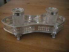 Houghton & Gunn (later acquired by Asprey), silver double inkstand, London 1892