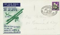 "AU$ NEW ZEALAND 1970 special flight ""FIRST CROSSING of COOK STRAIT by AIR"""