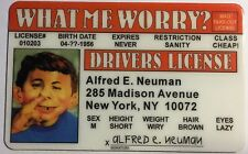 Alfred E. Neuman - Mad Magazine - Drivers License Novelty - What Me Worry?