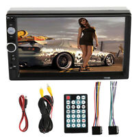 "Bluetooth Car Stereo Radio Double 2 DIN 7"" HD MP5 FM Player Touch Screen In-Dash"