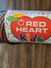 Red Heart Kids Yarn  2939 Crayon. Worsted Weight 4 oz Variegated