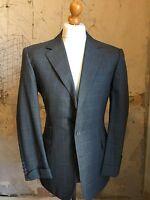 Vintage Leather 1940's 1950's Long Black Leather Peacoat Coat Size 42
