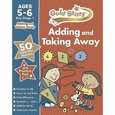 Gold Stars Adding and Taking Away Ages 5-6 Key Stage 1 by Parragon (Mixed...