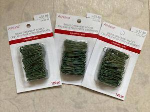 Green Small Christmas Ornament Hooks By Ashland - 3 Packs Of 120 Hooks (360)
