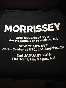 Morrissey  - RARE Las Vegas Tour Shirt 2015 / 2016 HARD ROCK CAFE - The Smiths