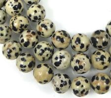 8mm Natural Dalmatian Jasper Round Mala Beads 15