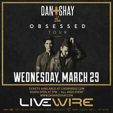 "DAN + SHAY ""THE OBSESSED TOUR"" 2017 PHOENIX CONCERT POSTER - Country Music"