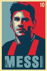 Barca Messi Hope Poster (24x36) inches
