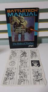 Battletech Manual The Rules of Warfare Fasa Corporation ROLEPLAYING BOOK RPG