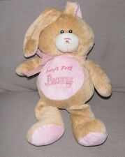 SUGARLOAF SUGAR LOAF STUFFED PLUSH BABYS BABY'S FIRST BUNNY RATTLE PINK TAN TOY