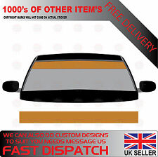 GLOSS GOLD WINDSCREEN SUNSTRIP 2000mm x 190mm VAN DECALS GRAPHICS STICKERS