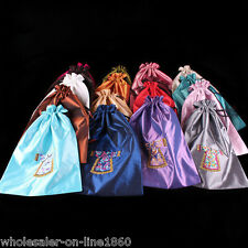 Wholesale 10pcs Chinese Handmade Classic Silk Cloth& Shoe Bags Purse Pouch