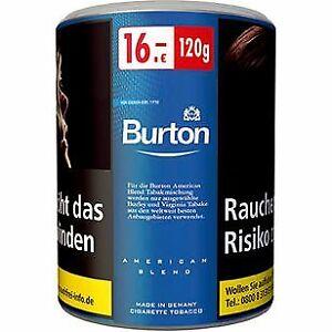 6 Dosen mit je 120g Burton Blue Zigaretten Tabak (100g=13,33€)