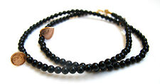 14k solid rose gold charms 4 black onyx bead natural bracelet hamsa genuine men