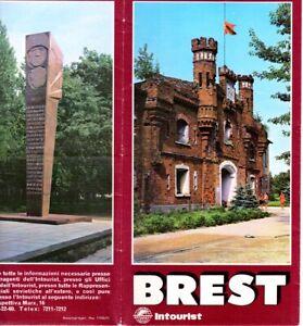 La fortezza di BREST -Depliant URSS Russia confine Gemania nazista 1939 Polonia