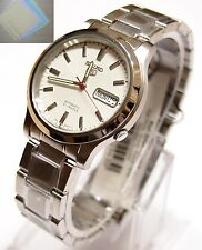 Gift + SNK789 Stainless Steel Band Automatic Men's White Watch SNK789K1 SEIKO 5