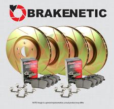 [F&R] BRAKENETIC SPORT SLOTTED Brake Rotors + POSI QUIET Ceramic Pads BSK81914