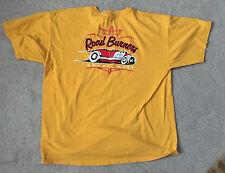 Road Burnes Hot Rot Car Club Men's Orange XL Short Sleeve T-Shirt Gildan Cotton