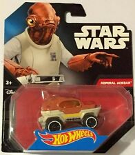 Star Wars Hot Wheels Admiral Ackbar #25 DJL68 TFA Force Awakens BRAND NEW SEALED