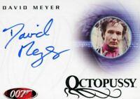 James Bond in Motion 2008 David Meyer as Grischka Autograph Card A85