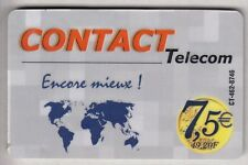 DOM-TOM  TELECARTE / PHONECARD  .. ILE GUADELOUPE 7€50 CONTACT + MAP CT-462+N°