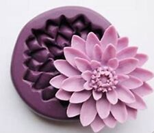 Water Lily Flower Silicone Mould Cake Decor Icing SugarPaste Chocolate  SELLER B