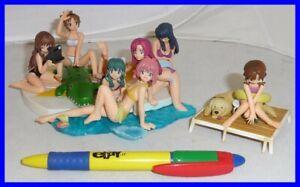 ONEGAI PLEASE TWINS Diorama SET Trading Figures BIKINI COSTUME SEXY Anime JAPAN