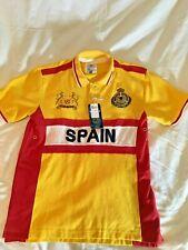 """SPAIN """"5"""" SOCCER TEAM by AMERICAN RANGER CJ1801-E MEN'S POLO SIZE Large G+9"""