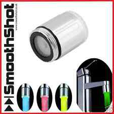 7 couleurs glow led robinet lumière eau courant robinet salle de bain robinet de cuisine lumière