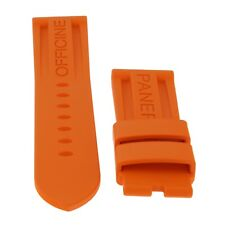 Panerai Original Factory 24x22mm Mens Orange Rubber Strap Never Worn