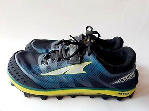 Altra King Mt Mens 9.5 Trail Running Shoes Zero Drop Wide Toe Box Blue Green